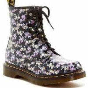 Dr. Martens Women's 1460 Floral Lace-up Boot US 8
